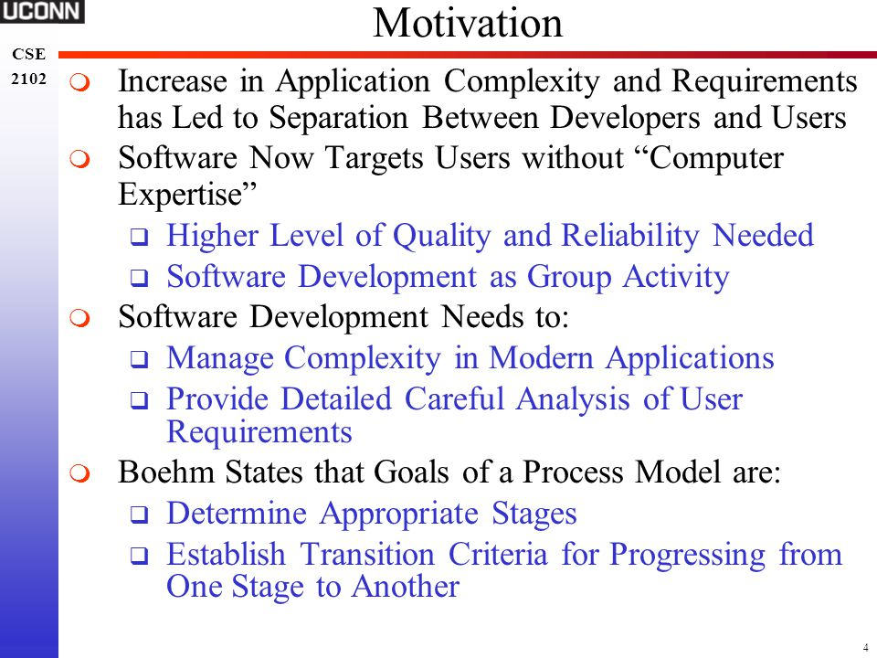 Motivation Increase in Application Complexity and Requirements has Led to Separation Between Developers and Users.