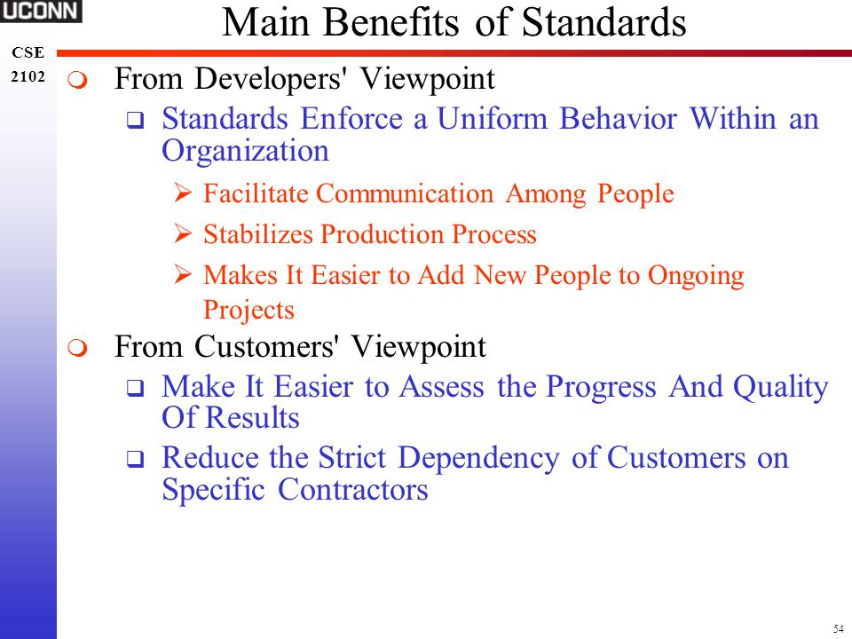 Main Benefits of Standards