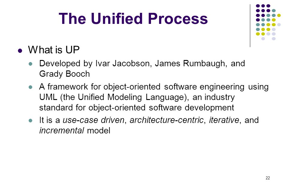 The Unified Process What is UP
