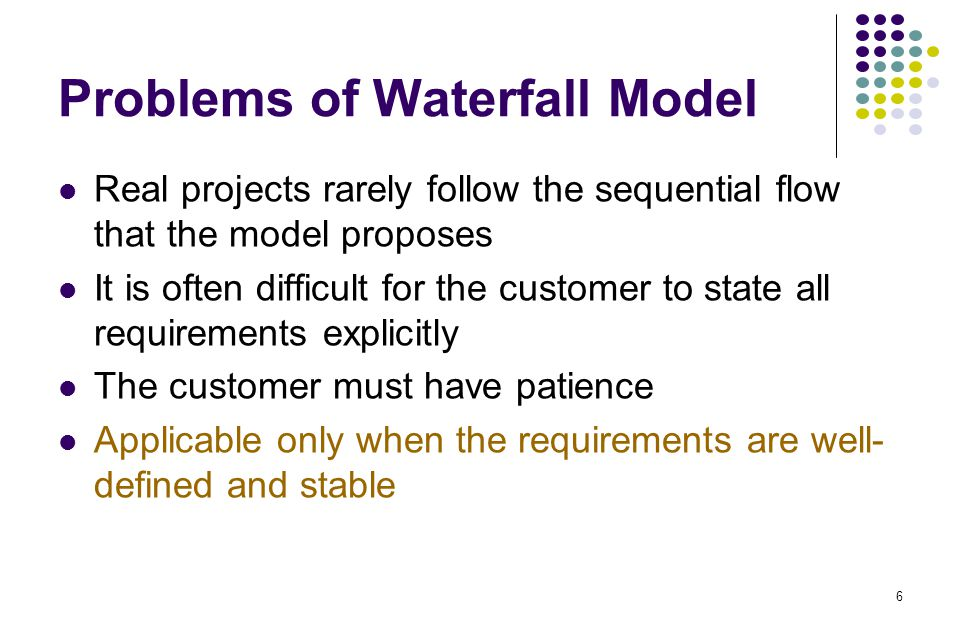Problems of Waterfall Model