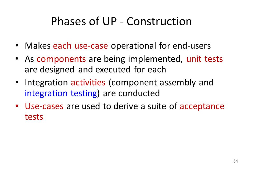 Phases of UP - Construction