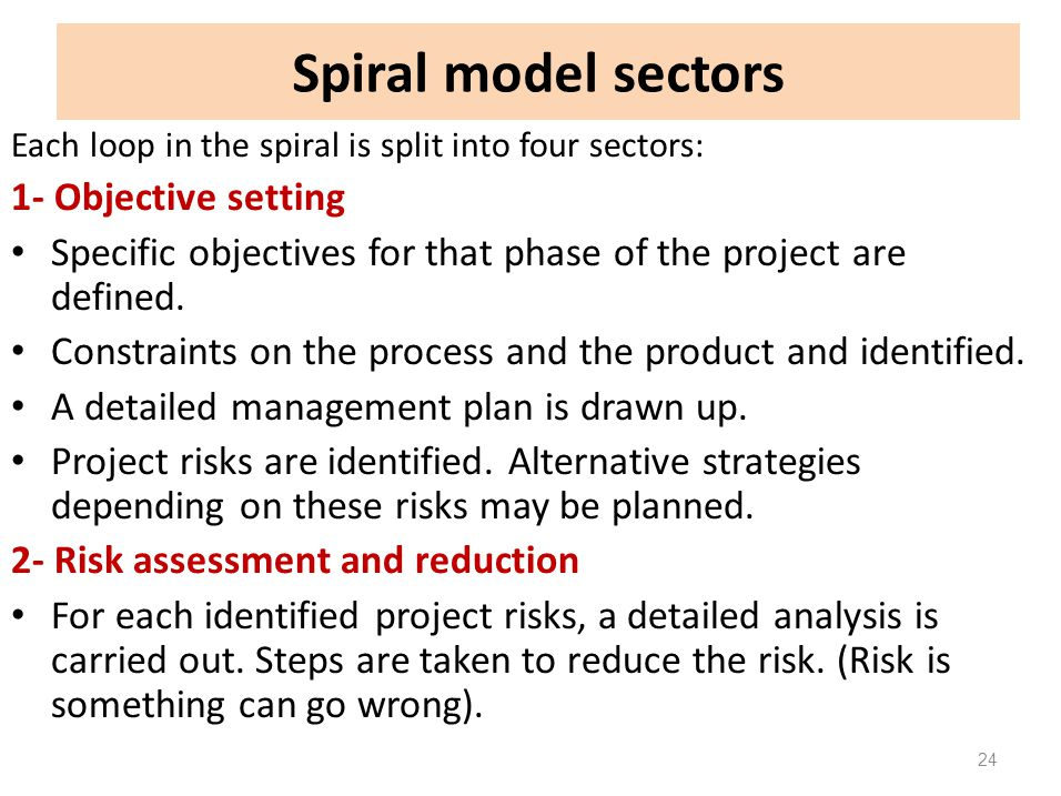 Spiral model sectors 1- Objective setting