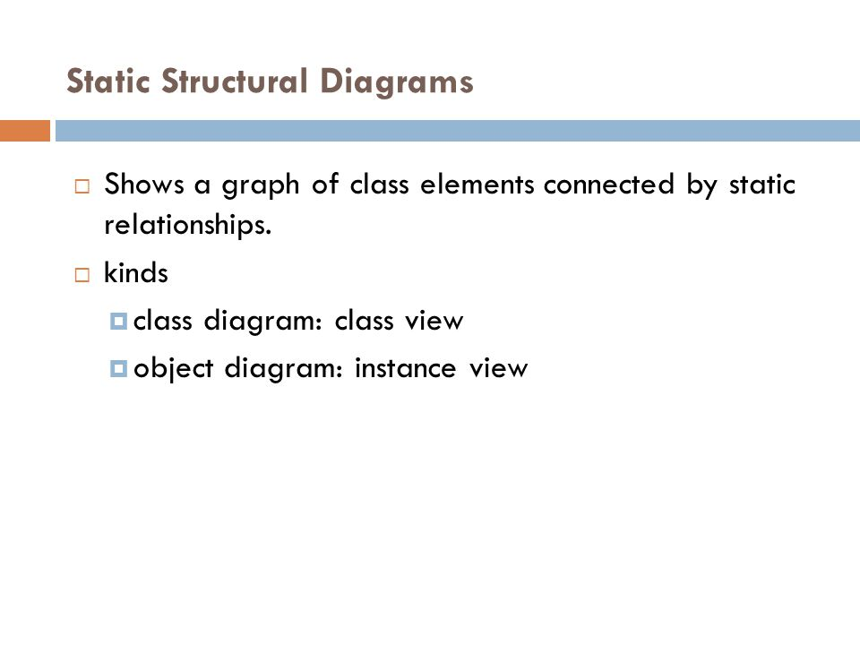 Static Structural Diagrams