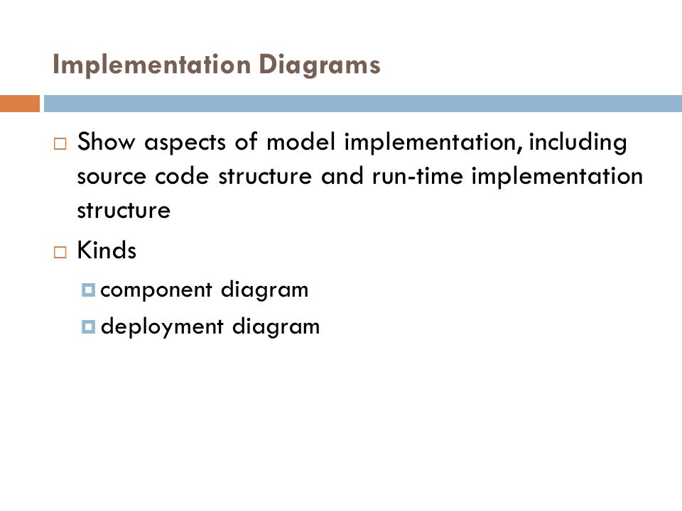 Implementation Diagrams
