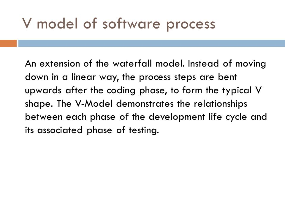 V model of software process