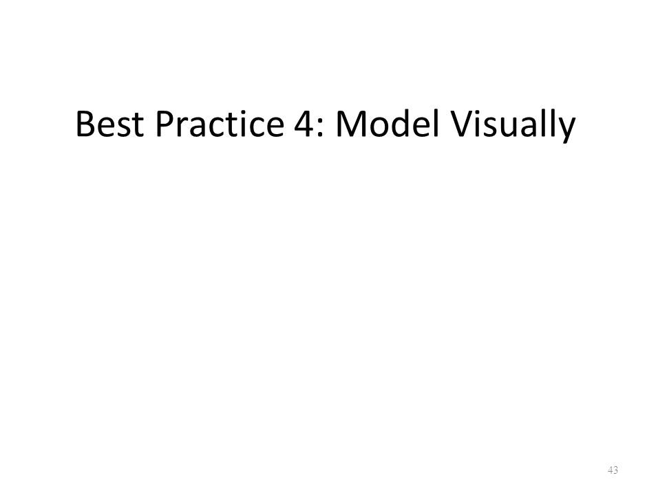 Best Practice 4: Model Visually