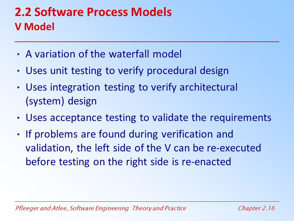 2.2 Software Process Models V Model