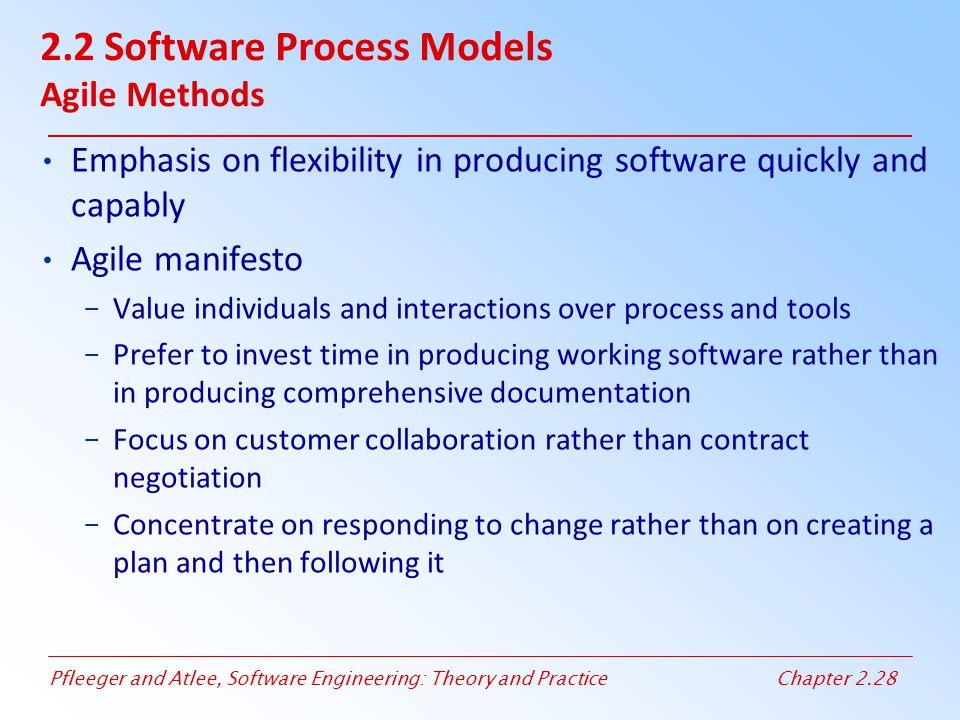 2.2 Software Process Models Agile Methods