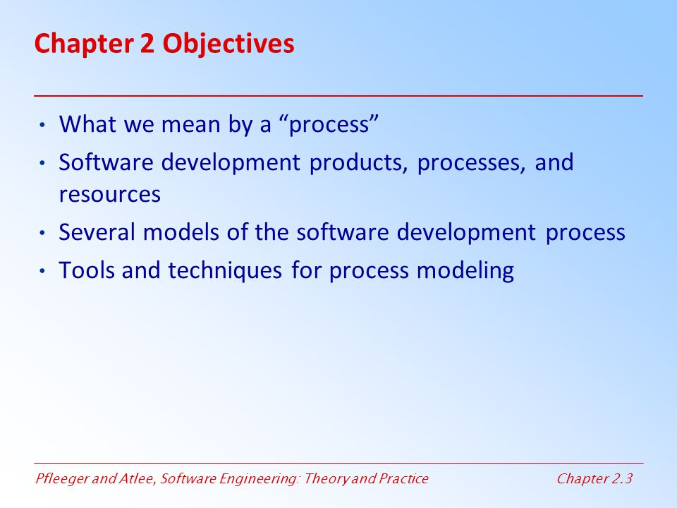 Chapter 2 Objectives What we mean by a process