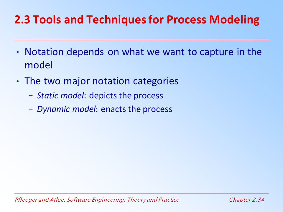 2.3 Tools and Techniques for Process Modeling