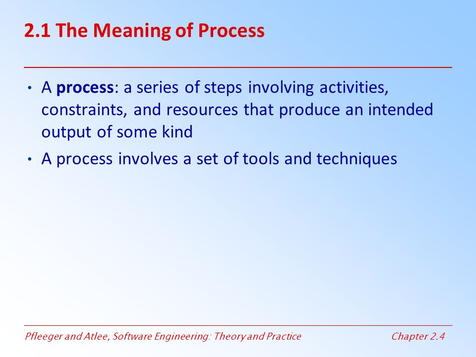 2.1 The Meaning of Process