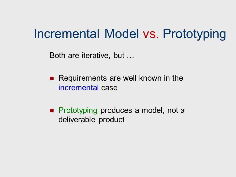 Incremental Model vs. Prototyping