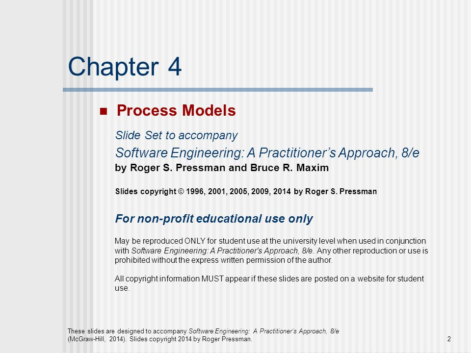 Chapter 4 Process Models