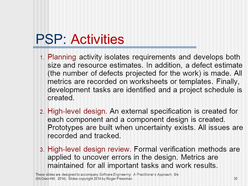 PSP: Activities