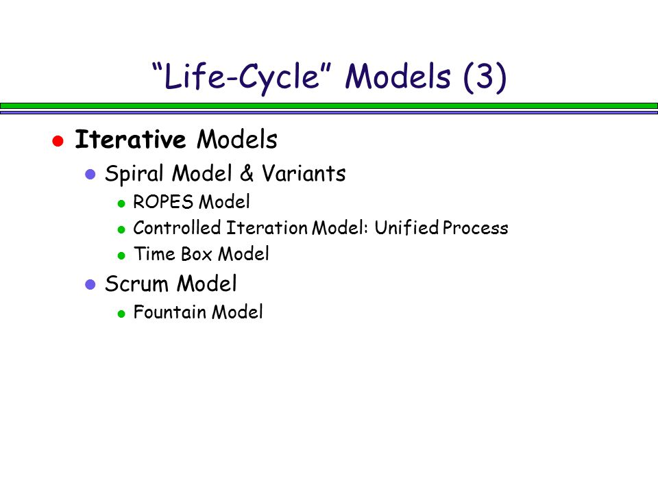 Life-Cycle Models (3)