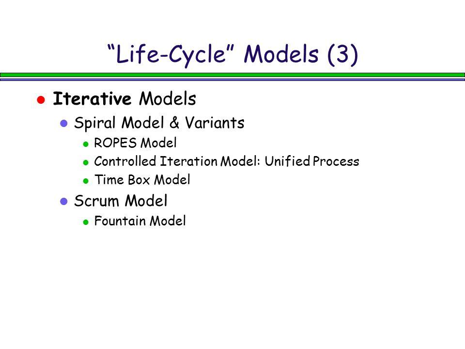 Life-Cycle Models (3)