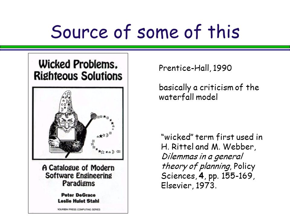 Source of some of this Prentice-Hall, 1990