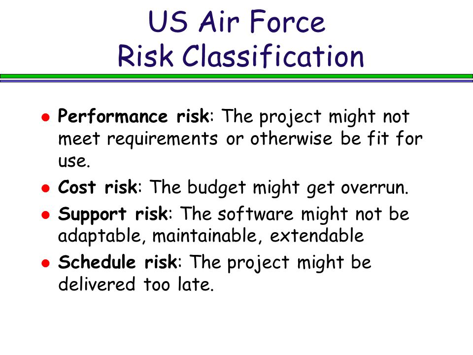 US Air Force Risk Classification