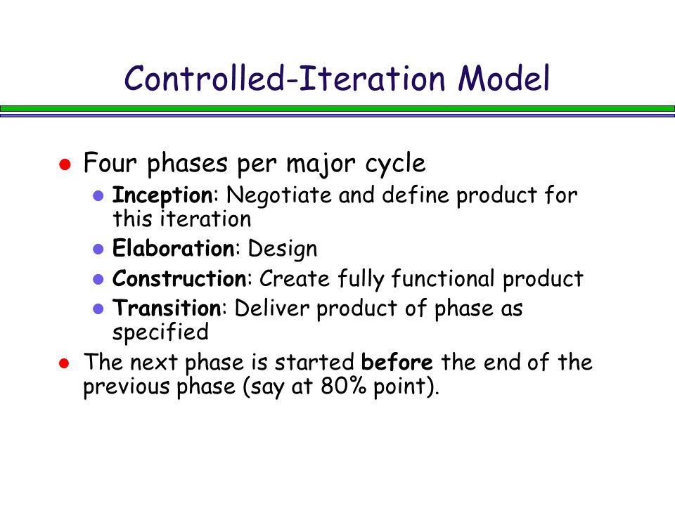 Controlled-Iteration Model