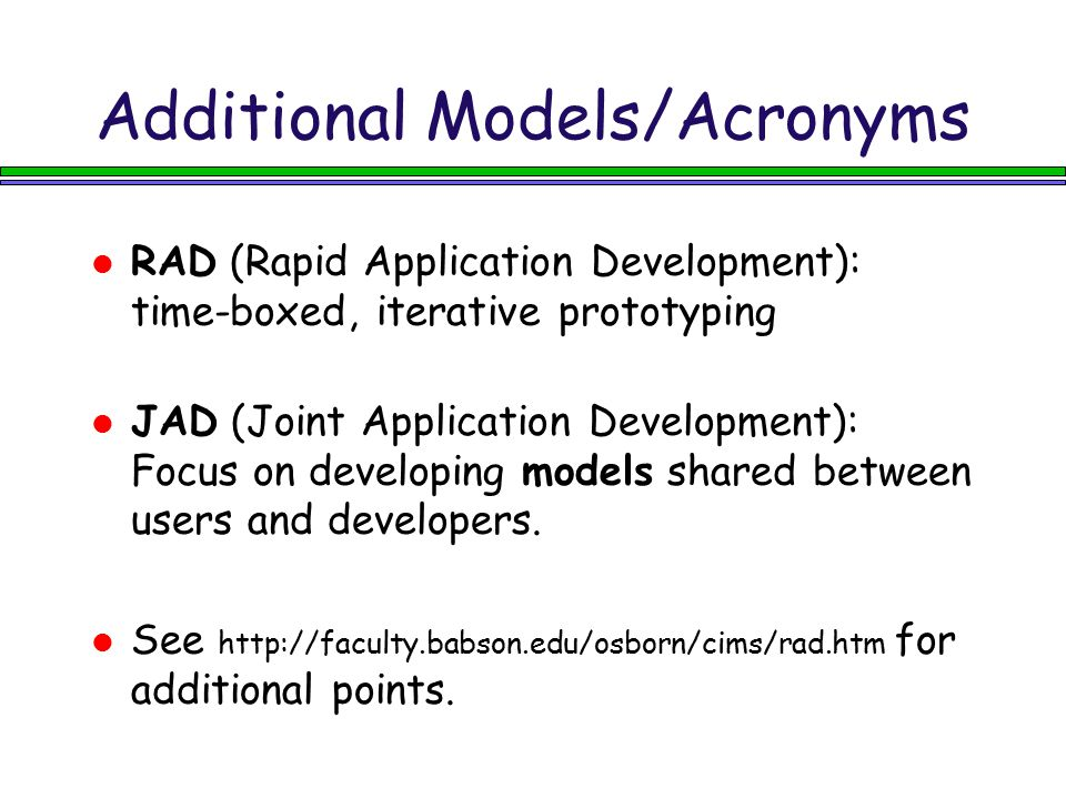 Additional Models/Acronyms