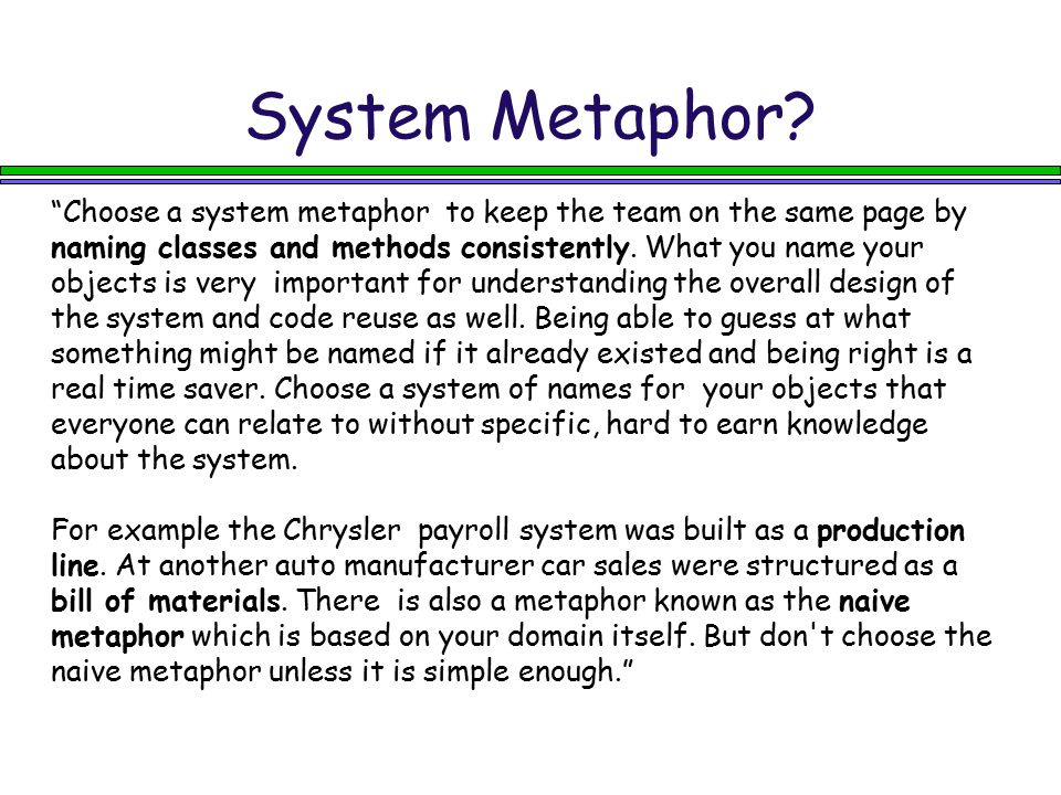 System Metaphor