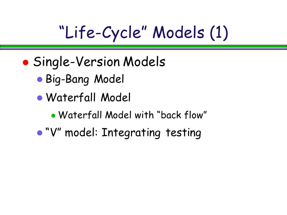 Life-Cycle Models (1)