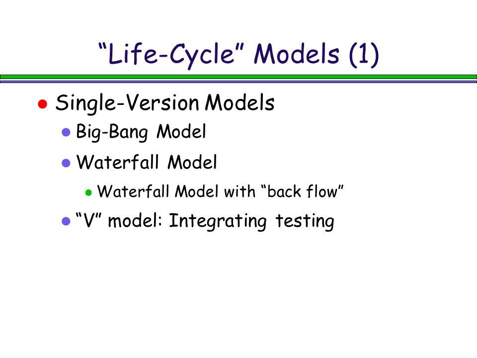 Life-Cycle Models (1)