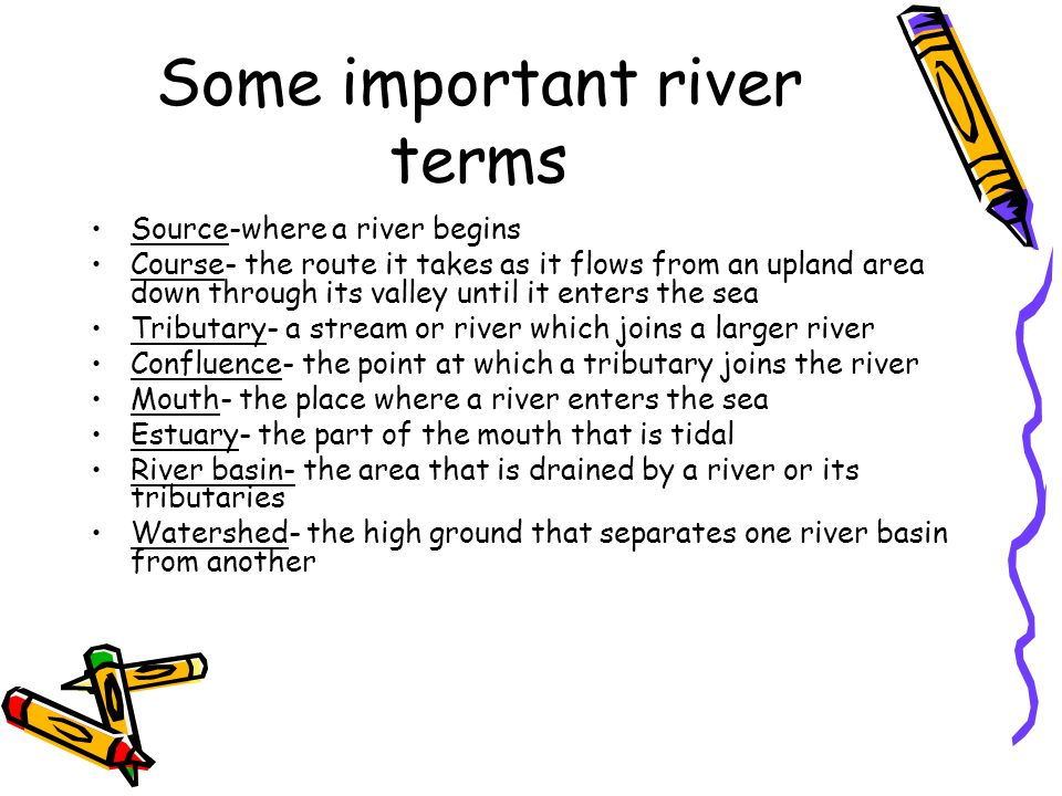 Some important river terms