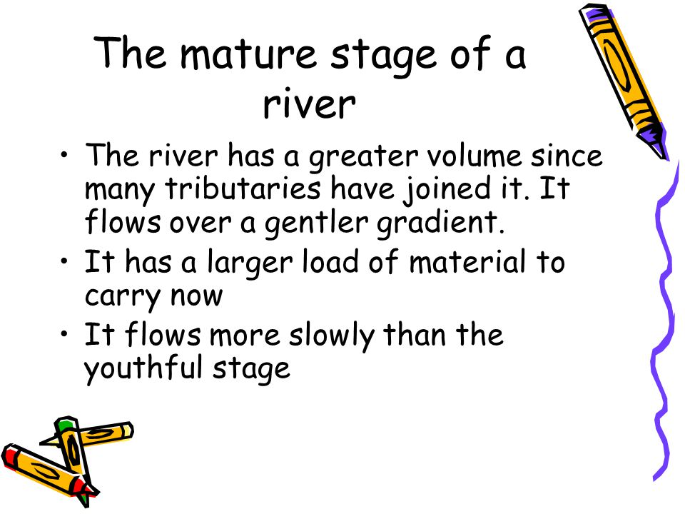 The mature stage of a river