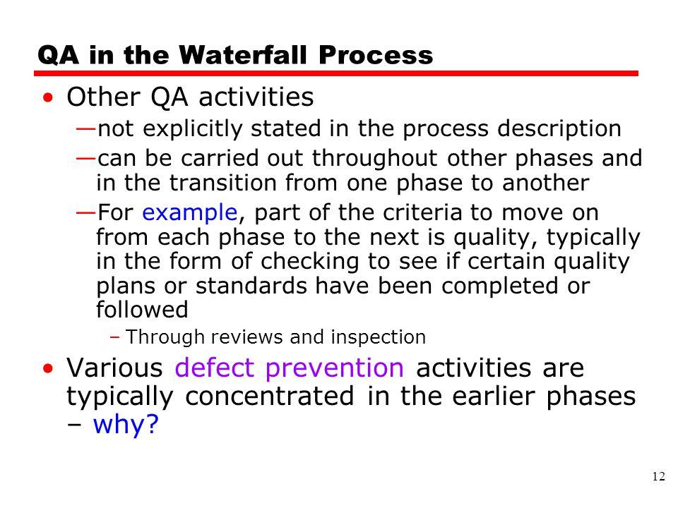 QA in the Waterfall Process