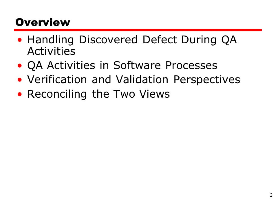 Handling Discovered Defect During QA Activities
