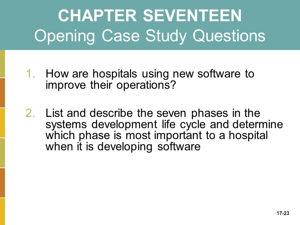 CHAPTER SEVENTEEN Opening Case Study Questions