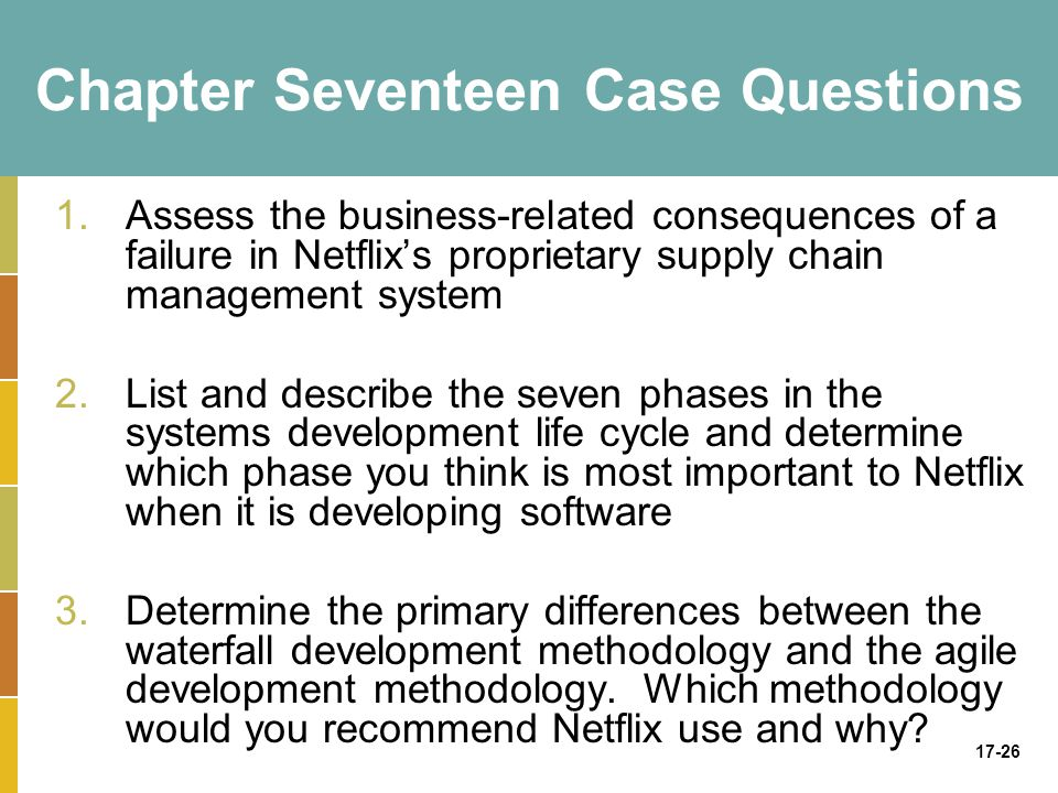 Chapter Seventeen Case Questions