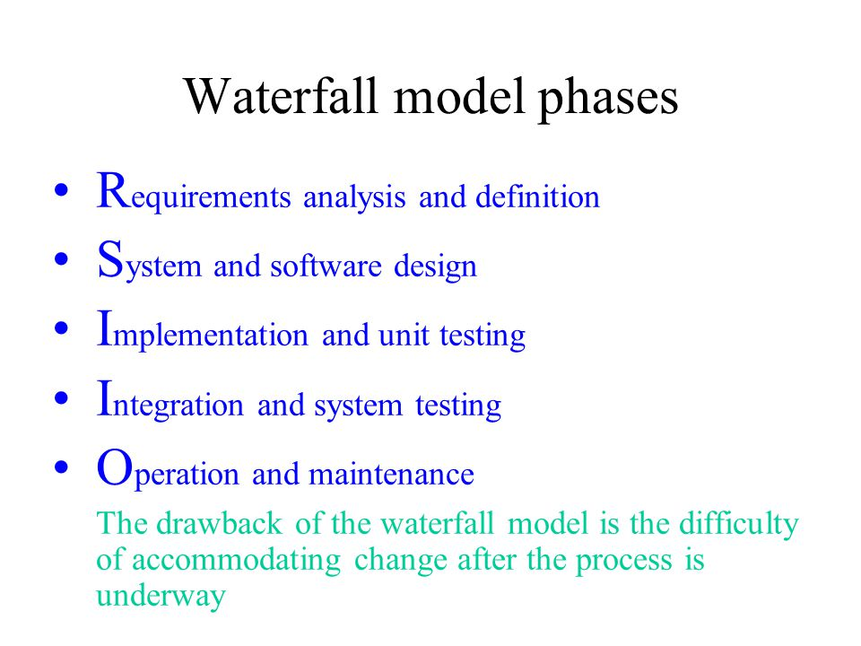 Software engineering process ppt video online download for Waterfall phases