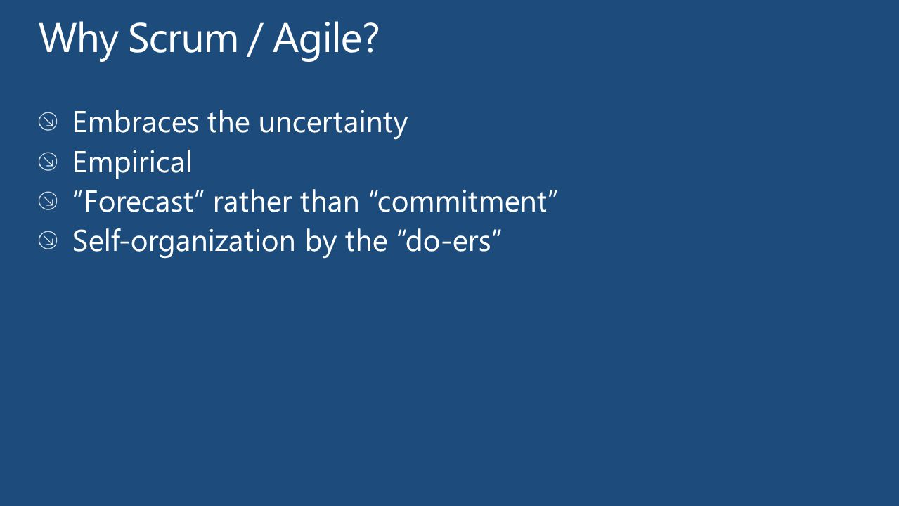 Why Scrum / Agile Embraces the uncertainty Empirical