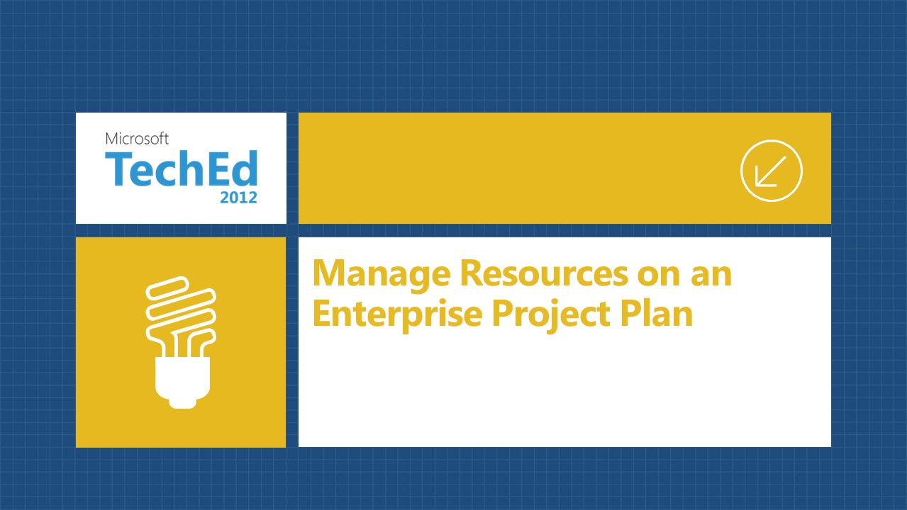 Manage Resources on an Enterprise Project Plan