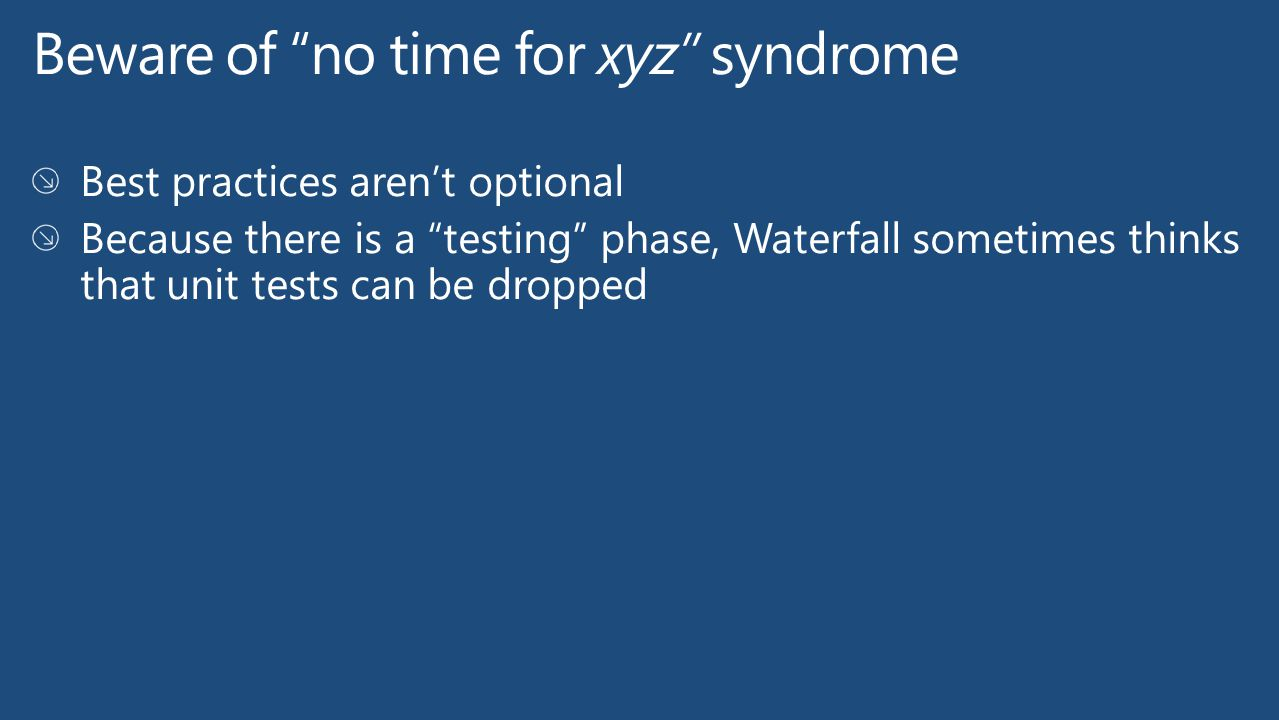 Beware of no time for xyz syndrome