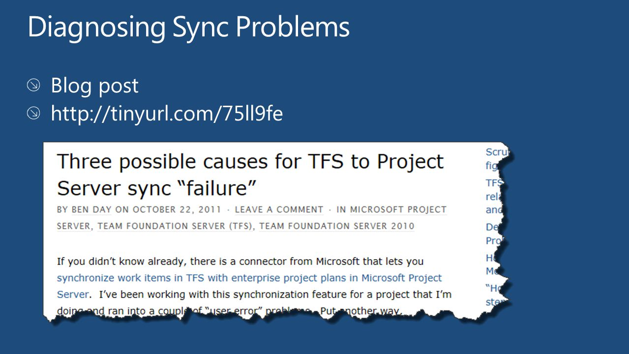Diagnosing Sync Problems