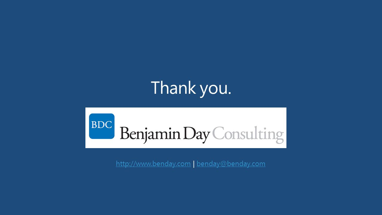 Thank you. http://www.benday.com | benday@benday.com