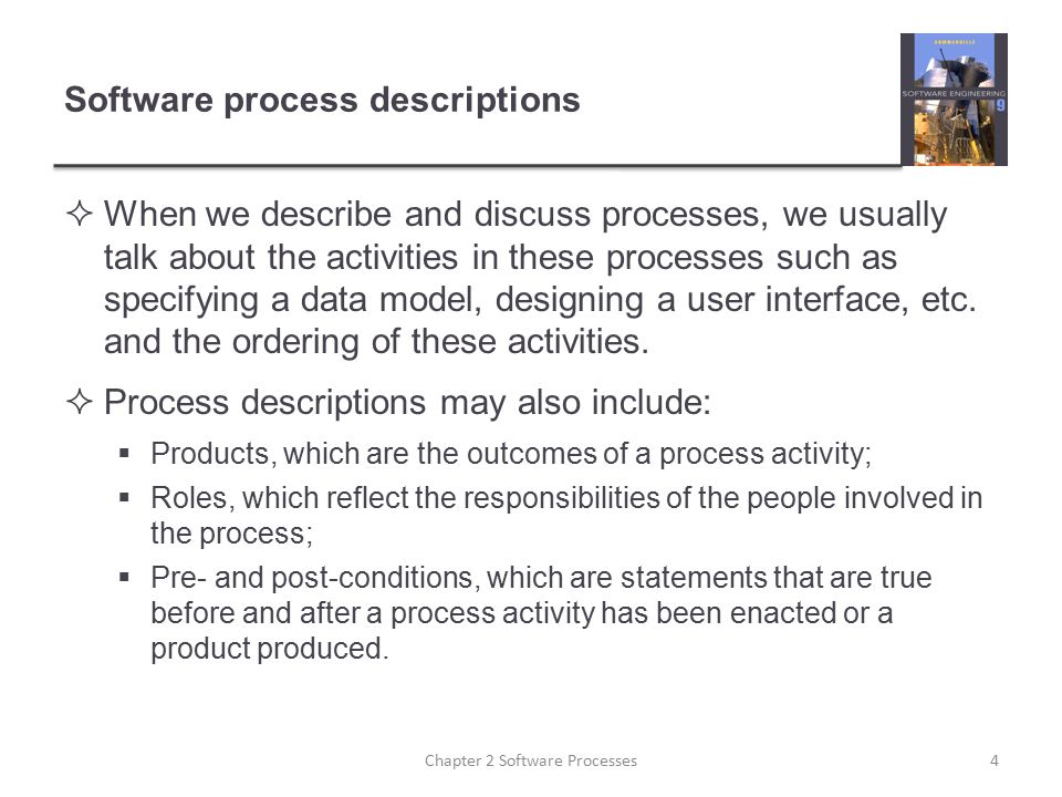 Software process descriptions
