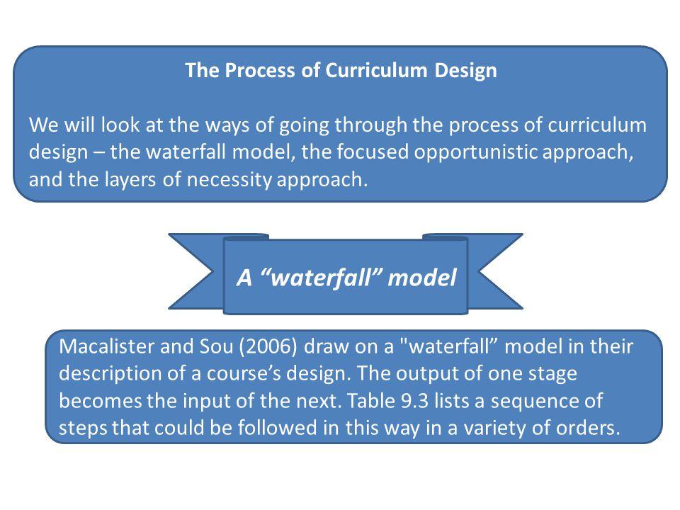 The Process of Curriculum Design