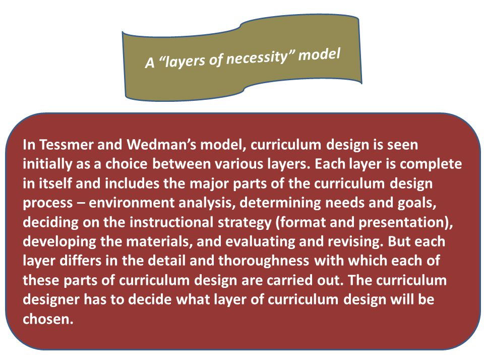 A layers of necessity model