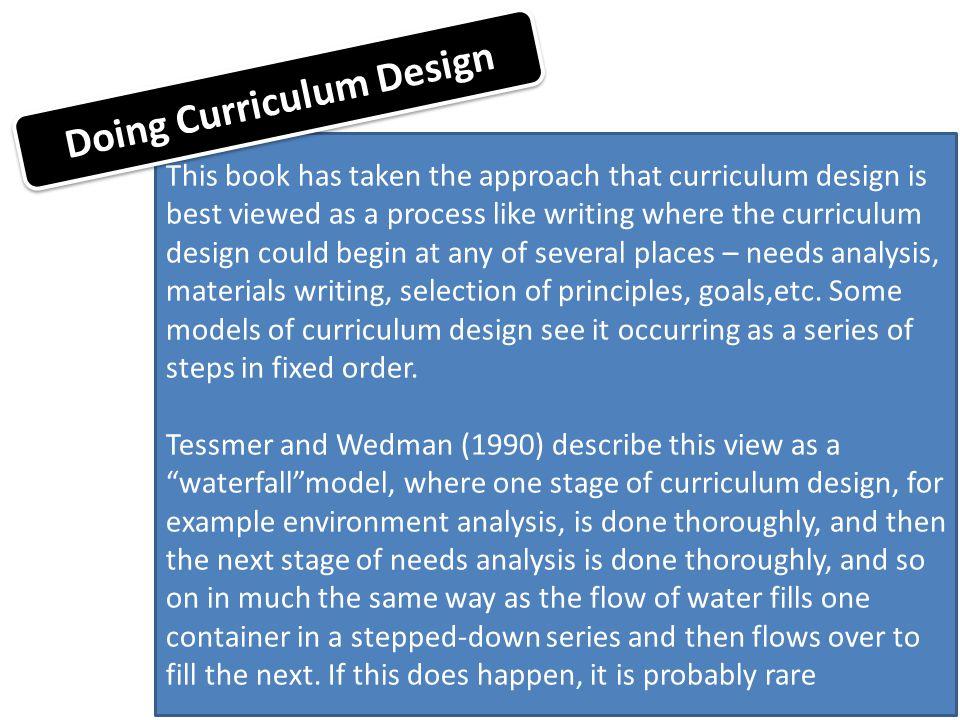 Doing Curriculum Design