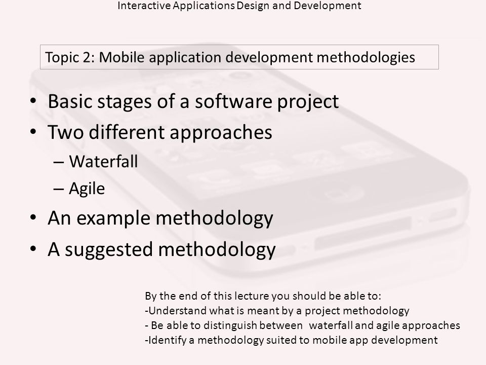 Interactive Applications Design and Development
