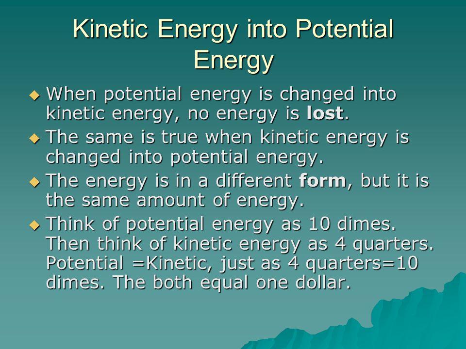 Kinetic Energy into Potential Energy