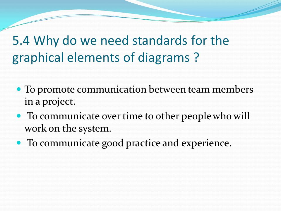 5.4 Why do we need standards for the graphical elements of diagrams