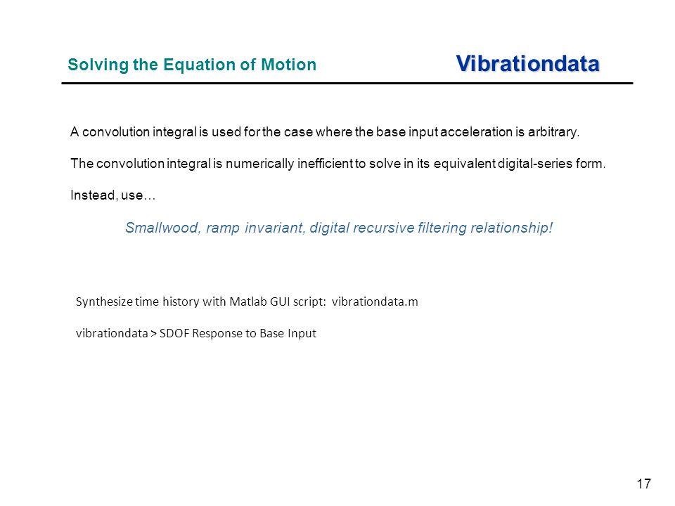 Smallwood, ramp invariant, digital recursive filtering relationship!