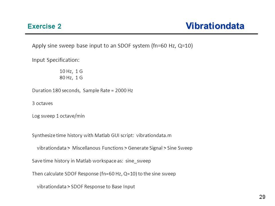Vibrationdata Exercise 2