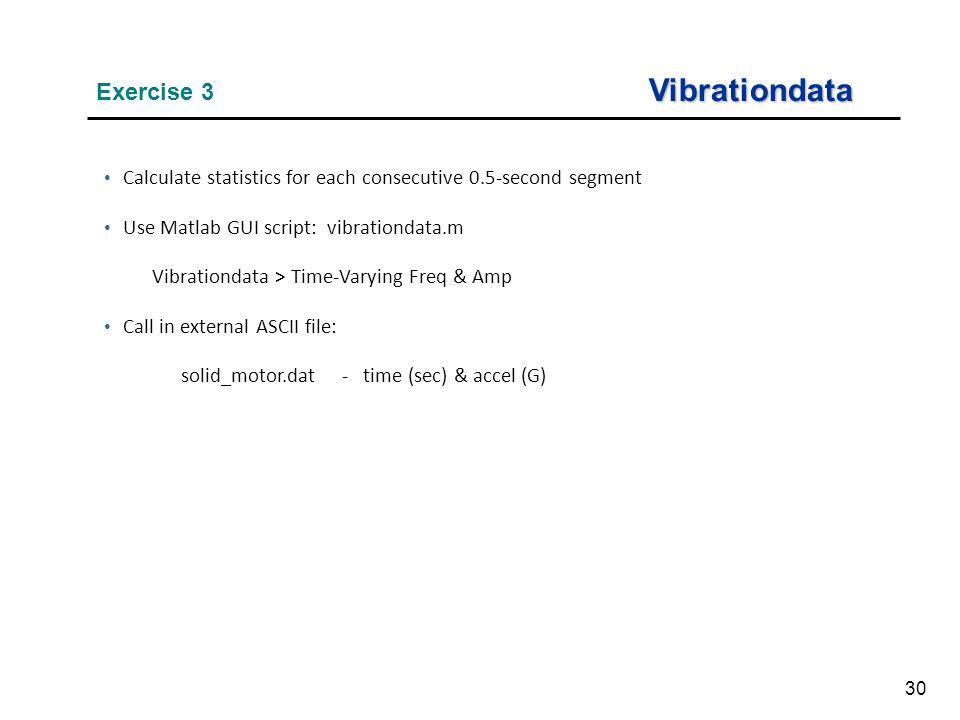Vibrationdata Exercise 3
