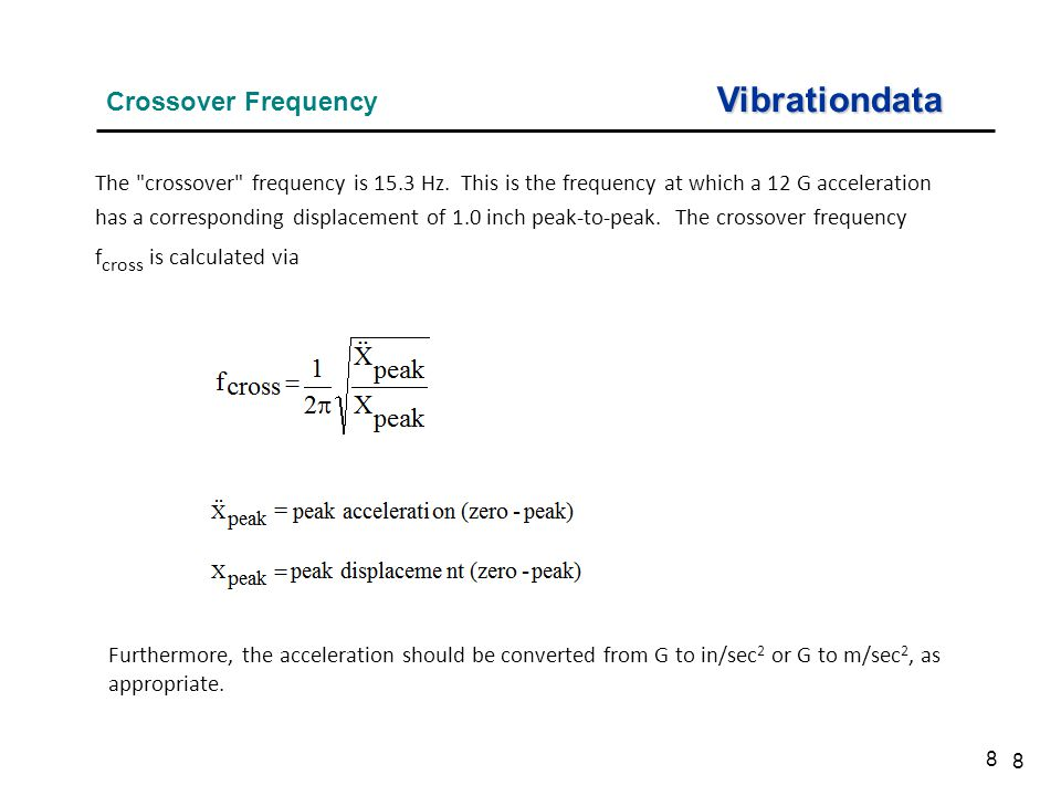 Vibrationdata Crossover Frequency
